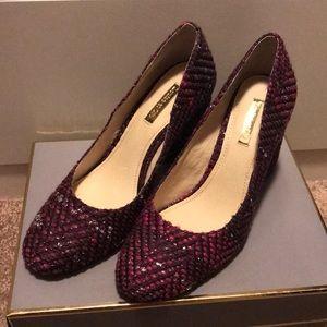 Louise et Cie Purple Tweed Heels